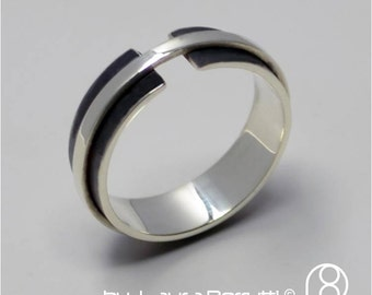Sterling Silver Ring Band Wrapping Open Ring
