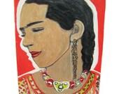 Profile portrait of Frida on canvas