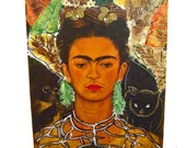 Frida Kahlo recreated Self Portrait with Monkey and Cat
