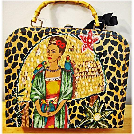 SALE - NOW 30 PER CENT OFF - Frida in the Jungle handbag - box