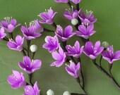 Made to Order Purple Sakura Cherry Blossom Branches for Wedding Cake Decor