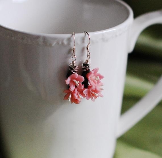 Mini Sakura Cherry Blossom Branch Earrings