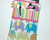 Elephants and Stripes - iPad Mini / Kindle Fire HD / Kindle Fire / Nook Color Tablet / Nexus 7 Padded Cover