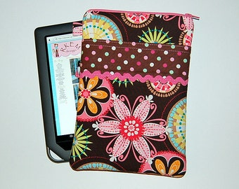 Carnival Bloom and Ice Cream Polka Dots - iPad Mini / Kindle / Nook / Nexus 7 Padded Cover with Front Pocket