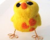 Sale Felt Bird Golden Yellow Sunshine Love Bird Needlefelted Bird
