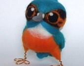 Sale Needle Felted Wild Bird Tweet British Kingfisher