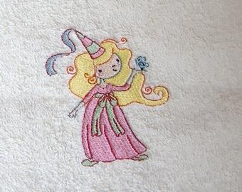 Princess Embroidered Hand Towel