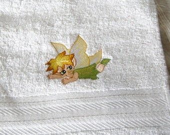 Fairy Embroidered Hand Towel