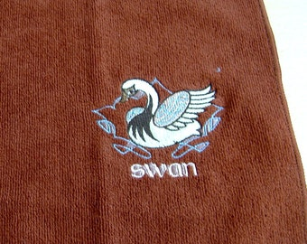 Swan Embroidered Tea /Dish Towel