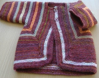 Rainbow Handknitted Babies Jacket