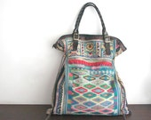 DAZZLING Oversized tote - Ethnic / Hip / Tribal / Hmong / Miao / Bohemian Tote - 543