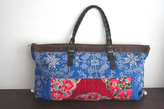 Tote - Hip/Tribal/Vintage/Hmong/Miao/Ethnic/Unique bag - 593