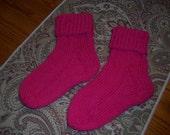 Children's Pink Knitted Socks