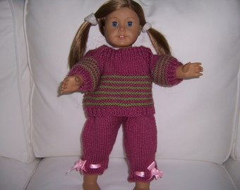 American Girl Knitted Set