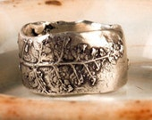 Fern lace ring