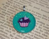 Glitter Cupcake Resin Pendant