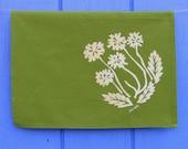 Spring Green Dandelions Organic Tea Towel