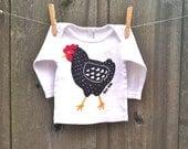 Dotty Chicken Long Sleeve Baby Tee