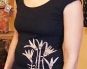 Women's Cap Sleeve Black Lotus Tee