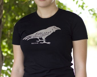 Midnight Black Raven Women's Short Sleeve Jersey Tee
