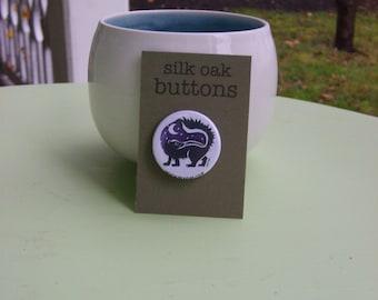 Midnight Skunk Pinback Button