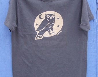 Woodland Grey Owl Adult Tee
