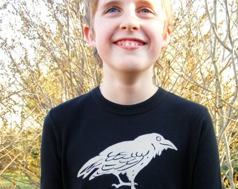 Long Sleeve Kid's Raven Tee