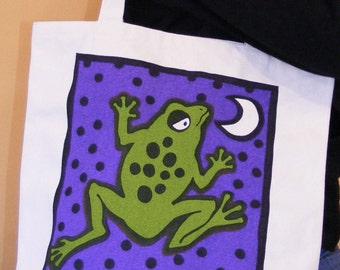 Moon Frog Organic Cotton Tote Bag