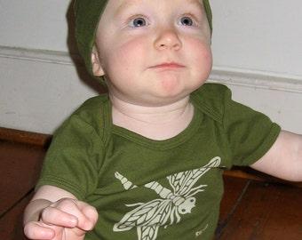 Olive Dragonfly Short Sleeve Infant Tee