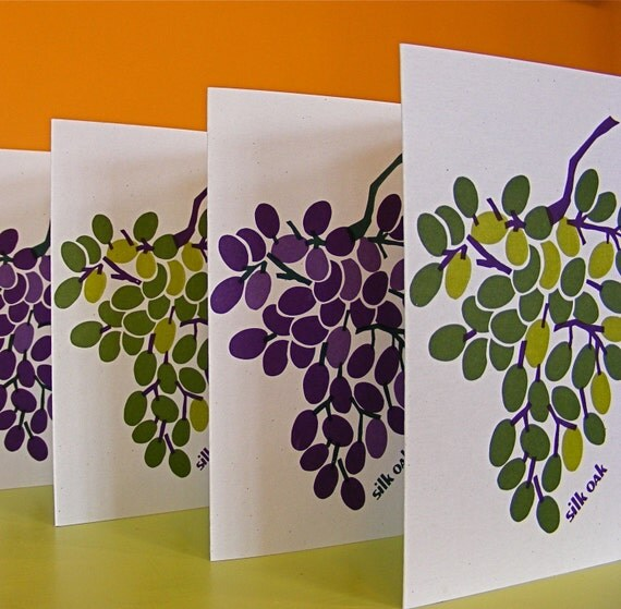 Luscious Grapes Eco-Friendly Card Set