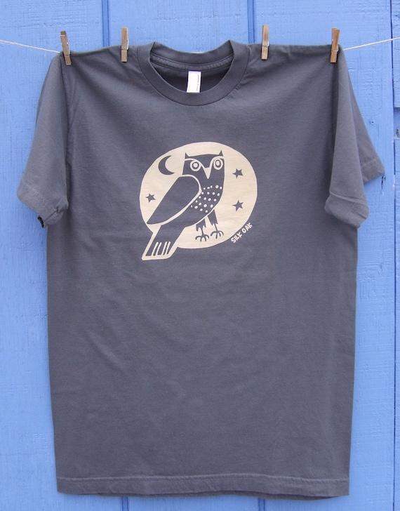 Woodland Grey Owl Adult Tee