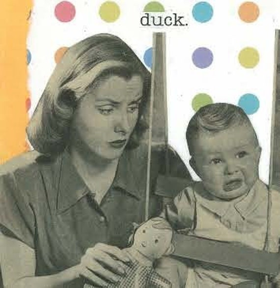 Pecked by a duck Greeting Card