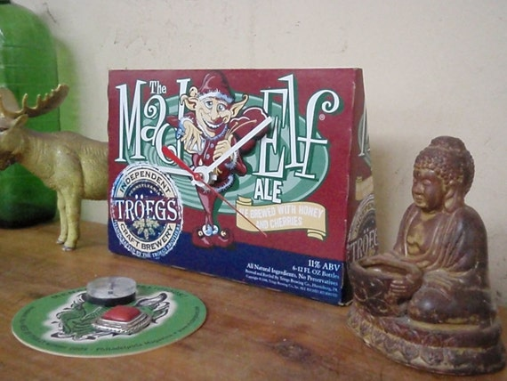 Mad Elf Clock - Time for a Brew - Troegs' Beer - Repurposed and Upcycled  Christmas Gift
