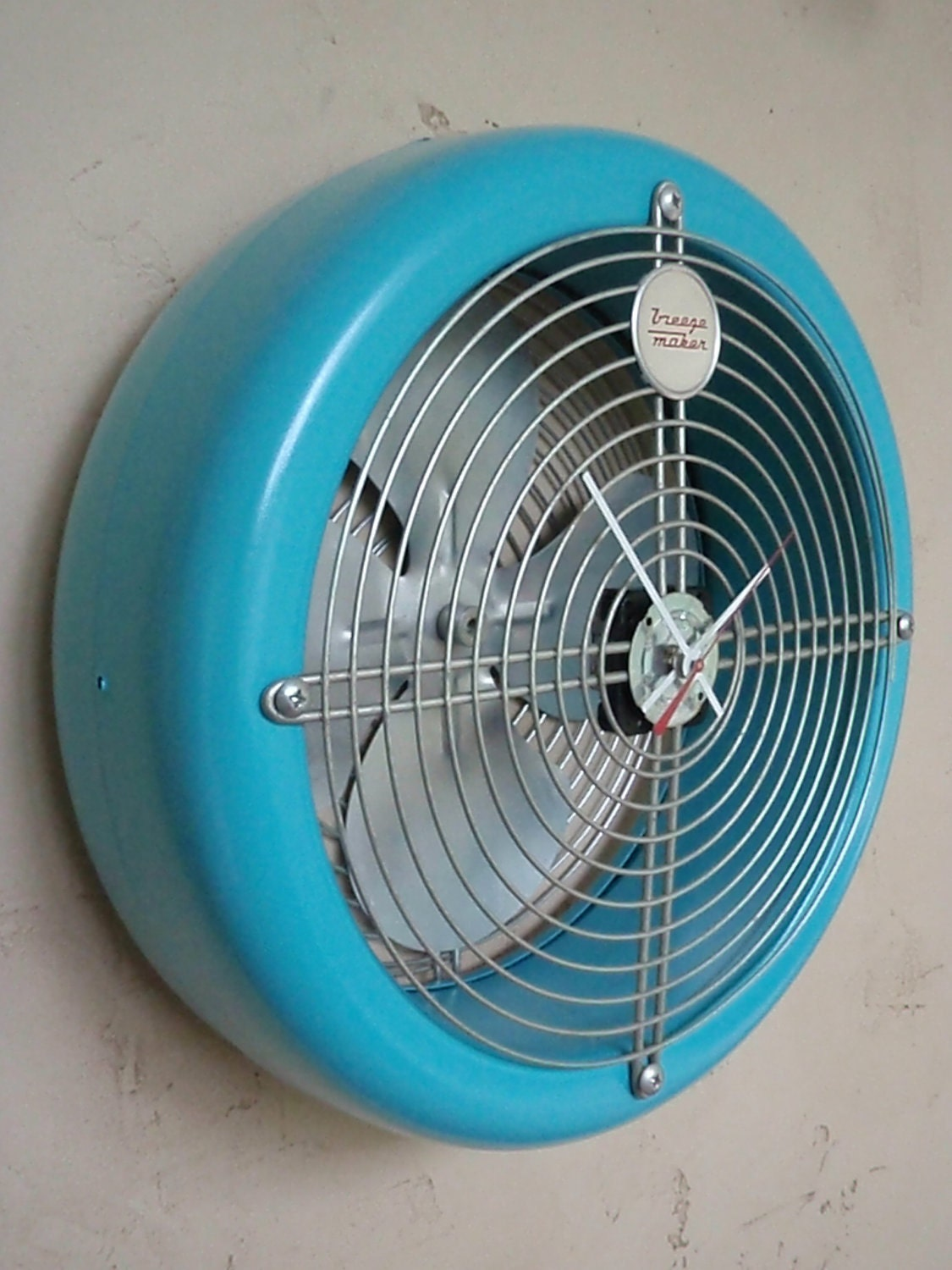 Vintage Fan Clock Repurposed And Upcycled Wall Clock