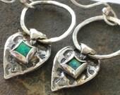 Sterling Opal Earrings, Silver Opal Dangles, Blue Green Gemstone, Blue Opal Gemstone, Nature Inspired Earrings, Opal Drop Earrings