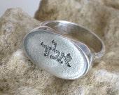 Silver Kabbalah Ring, Hand Carved Ring, Holy Land Ring, Unisex Judaica Ring, Kabbalah Jewelry, Hebrew Ring, Ring For Luck, Kabala Ring