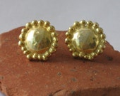SMALL 22k Gold Plated  Sterling Silver Studs