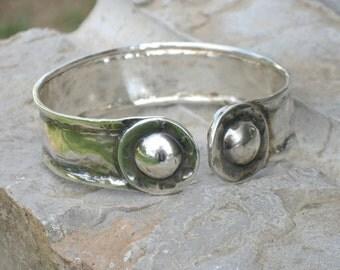 Bangle Cuff Silver, Chunky Bracelet, Solid Sterling Cuff, Oxidized Silver Bracelet, Sterling Cuff, Silver Jewelry, Jewellery Cuff