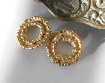 Gold Earring Posts, Gold Earring Studs, Goldplated Silver Earstuds, Gold Women Earrings, Everyday Gold  Posts, Gold Textured Earrings