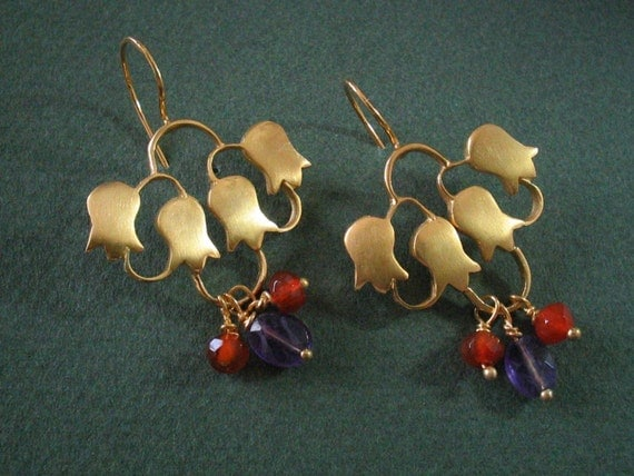 Earrings sterling silver 22ct Gold plated
