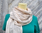 Feather Scarf on Cream