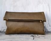 Large Leather Clutch II