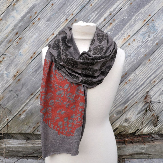 Pinecone Scarf on Coffee