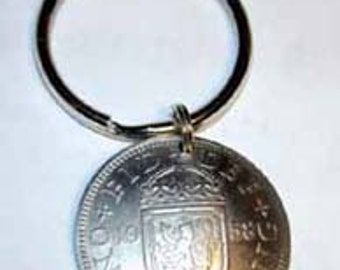 Coin key ring-Scottish Arms key ring-free shipping