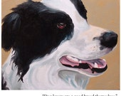 Greeting Card-Dog lovers are a good breed themselves. (Gladys Taber)