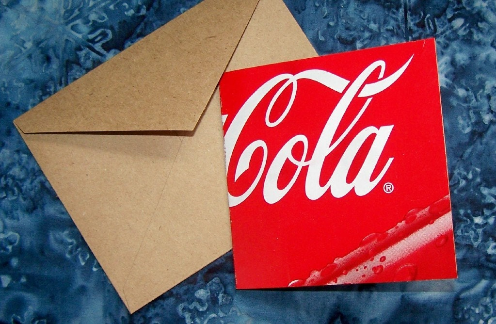CoCa-CoLa Greeting Card All Occasion Blank Inside