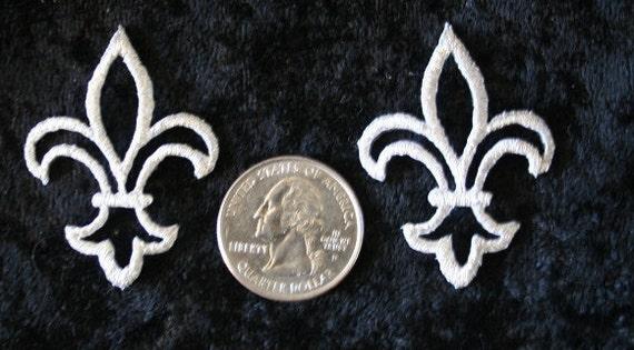 Fleur De Lis Iron On Patch Set Of Two
