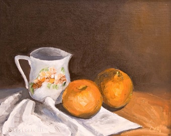 Clementines and Pitcher