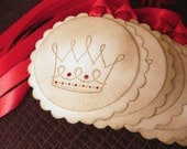 Crown Scallop Gift Tags - Set of 5- Crown - Graduation, Wedding Favors, Parties, Birthdays