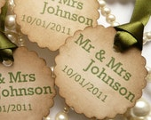 Wedding Favors, Wedding Favor Tags, Vintage Wedding Favor Tags, Green Wedding Favors, Rustic Wedding Decor, Small Favor Tags